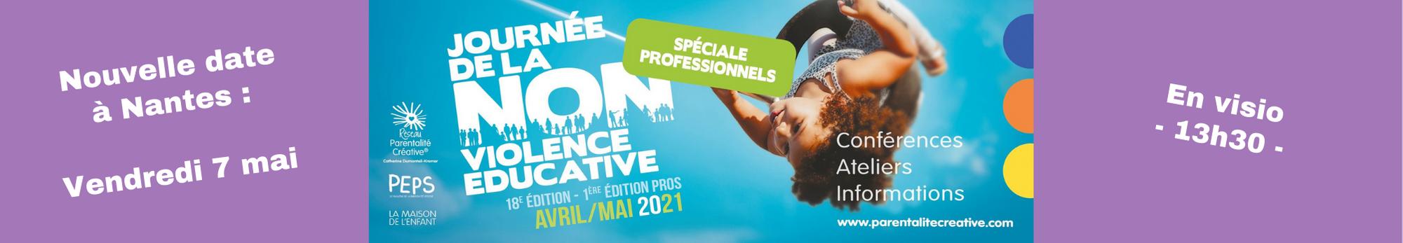 Read more about the article Nouvelle date à Nantes pour la journée de la non-violence éducative, spéciale professionnel·le·s