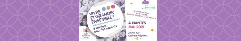 Read more about the article Nouveau cycle d'ateliers «Vivre et Grandir Ensemble» à Nantes !